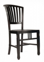 6x Kolonial Stuhl 50x95x55cm Massiv