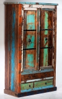 Vintage Möbel Kleiderschrank Schrank 107x188x50cm