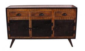 Mangoholz Eisen Sideboard 140x85x40cm Massiv