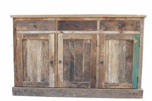 Teakmöbel Teakholz Sideboard 145x90x45cm Massiv