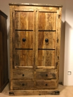 Massivholz Kleiderschrank  107x188x50cm