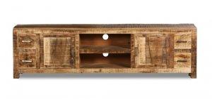 Massivholz Möbel Lowboard 195x55x45cm