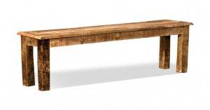 Massivholz Möbel Bank Mangoholz 140x38x45cm