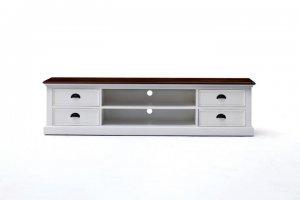 TV Board Lowboard Weiß 180x45x45cm Massiv