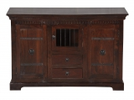 Kolonial Möbel Kommode 130x85x50cm Massiv