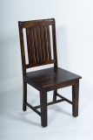 4x Kolonial Stuhl 50x100x46cm Massivholzmöbel