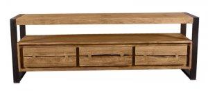 Akazienholz Lowboard 160x55x40cm Massiv