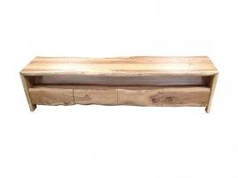 Massivholz Lowboard Baumkante 190x45x47cm Akazienholz