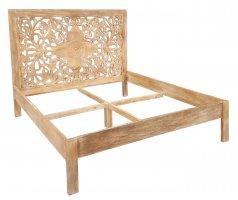 Shabby Chic Akazienholz Möbel Bett 140x200cm Massivholz
