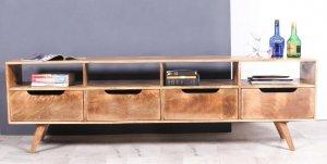 Vintage Massivholz Möbel TV Board Lowboard 200x60x40cm