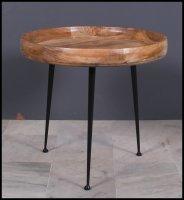 Massivholz Möbel Couchtisch 63x45x63cm