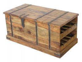 Akazie Truhe Weinbox 108x45x56cm