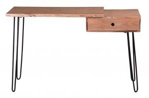 Konsolentisch Natur Gestell Antikschwarz 76x120x36,5cm Akazieholz
