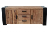 Antikfinish Massivholz Möbel Sideboard 192x85x45cm