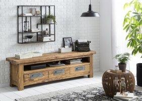 Teakholz Möbel Lowboard 200x60x45cm Massiv