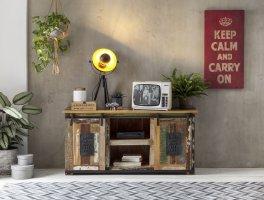 Vintage Massivholz Lowboard 130x63x40cm