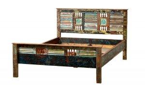 Vintage Möbel Bett 180x200cm Massiv