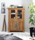 Teakholz Möbel Highboard 115x150x48cm