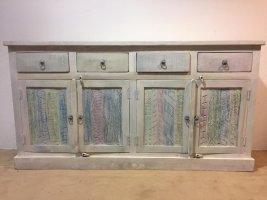 Shabby Chic Möbel Vintage Sideboard weiß 170x90x40cm