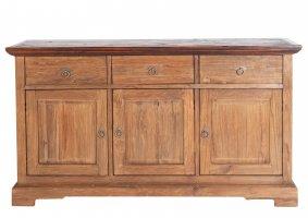 Massivholz Sideboard Natur 148x84x44cm recyceltes Teak