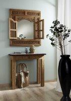 Massivholz Spiegel Natur 80x90x5cm recyceltes Teak