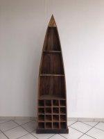 Shabby Chic Möbel Bootsregal 52x190x43 cm