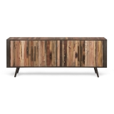 TV Board Sideboard Bootsholz Metall 200x77x45cm Massiv
