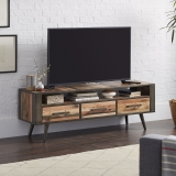 TV Board Sideboard Bootsholz Metall 160x55x45cm Massiv