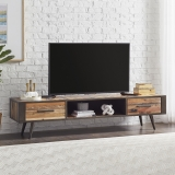 TV Board Sideboard Bootsholz Metall 200x45x45cm Massiv