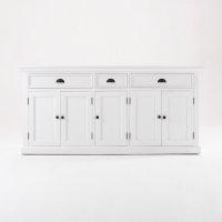 Sideboard Weiß 180x85x50cm Massiv