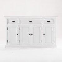 Kommode Sideboard Weiß 145x85x50cm Massiv