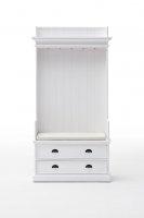 Garderobe Weiß 100x190x40cm Massiv