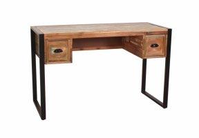 Vintage Massivholz Schreibtisch 120x76x55cm