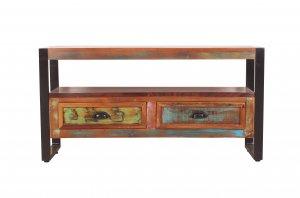 Vintage Massivholz Lowboard 98x50x35cm