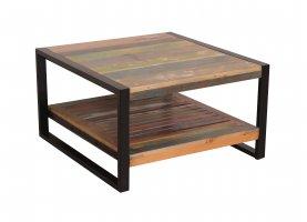 Vintage Massivholz Couchtisch 70x41x70cm