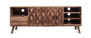 Vintage Massivholz Lowboard Akazie 175x65x45cm