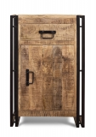 Vintage Massivholz Kommode Mangoholz mit Metall 50x75x40cm