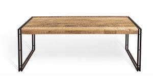 Vintage Massivholz Esstisch Mangoholz mit Metall 180x76x90cm