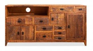 Vintage Massivholz Sideboard Mangoholz 125x63x40cm