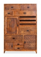 Vintage Massivholz Kommode Mangoholz 80x118x40cm