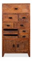 Vintage Massivholz Kommode Mangoholz 45x85x40cm