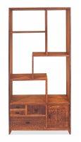 Vintage Massivholz Regal Mangoholz 85x175x35cm