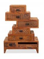 Vintage Massivholz Kommode Mangoholz 50x67,5x30cm