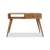Vintage Massivholz Schreibtisch Mangoholz 140x76x60cm