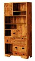 Vintage Massivholz Regal Mangoholz 90x190x35cm