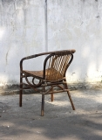 Rattanstuhl im Vintagestil 61x79x60cm