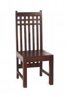 6x Kolonial Möbel Stuhl 45x107x50cm Massiv