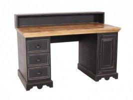 Kolonial Möbel Schreibtisch 132x90x65cm Massivholz MDF