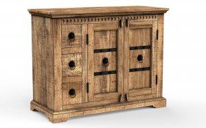 Mango Massivholz Möbel Kommode 106x85x50cm