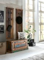 Vintage Möbel Massivholz Dielen-Set Schuhschrank 2xGarderobe